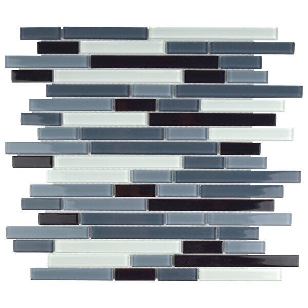 Ambit Random Sized Glass Mosaic Tile in Marina by EliteTile
