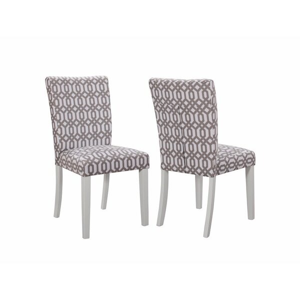 Buiron Wooden Upholstered Dining Chair (Set of 2) by House of Hampton