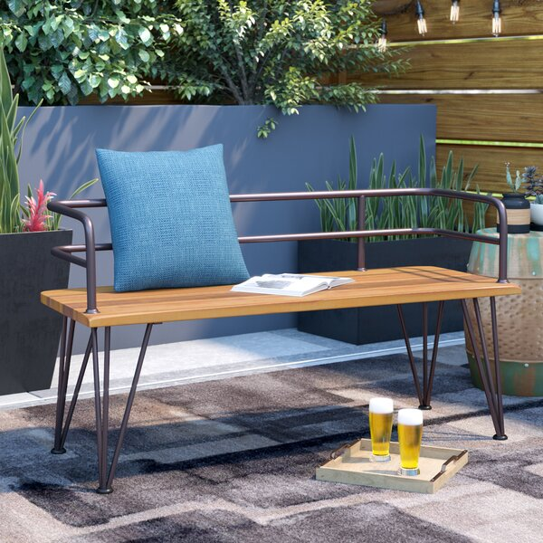 Guyapi Outdoor Wood Garden Bench by Trent Austin Design