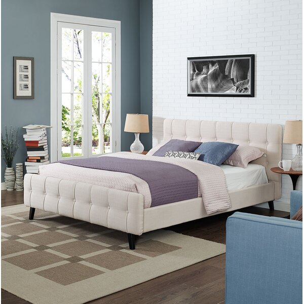Mascotte Queen Upholstered Platform Bed by Ebern Designs
