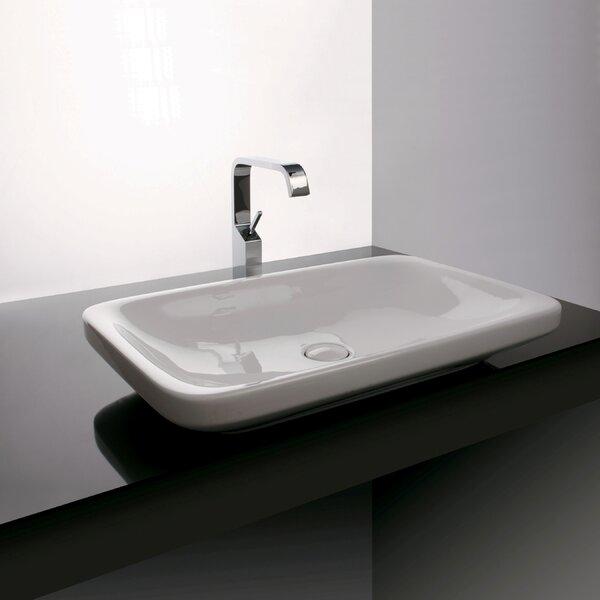 Start Ceramic Rectangular Vessel Bathroom Sink by WS Bath Collections