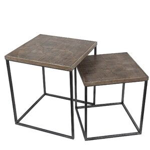 Gracie Oaks Ehrika 2 Piece Nesting Tables