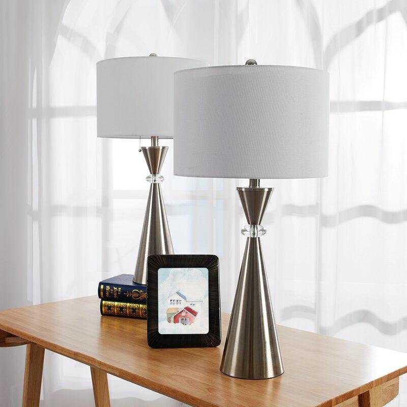 bedside table lamp set
