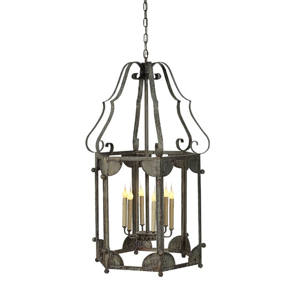 Wilmington 6 - Light Lantern Geometric Chandelier By Ellahome