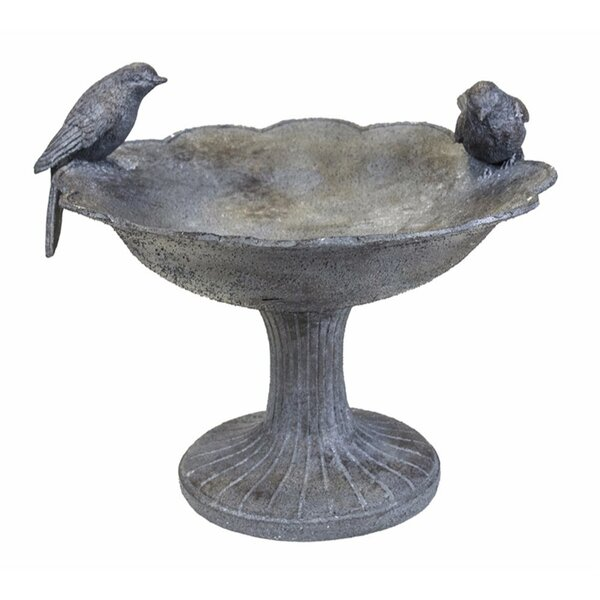 Two Birds Birdbath by Benzara