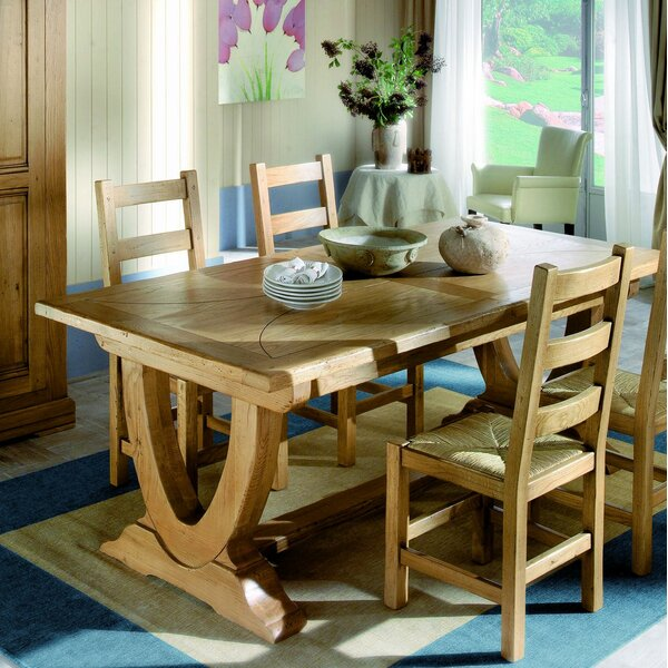 Kinzie Extendable Solid Wood Dining Table by Loon Peak