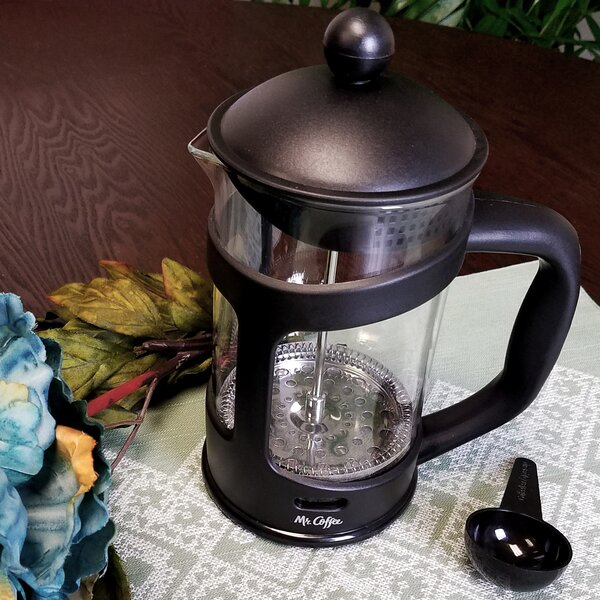 3.5-Cup Mr Coffee Brivio French Press Coffee Maker with Plastic Lid by Gibson