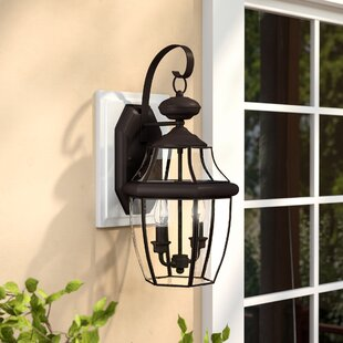 Best Price Laceyville 2-Light Outdoor Wall Lantern By Darby Home Co