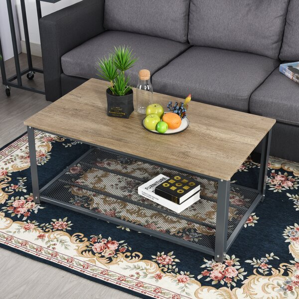 Throop Big Coffee Table with Storage by Williston Forge