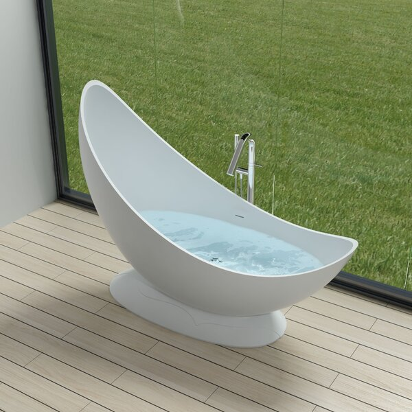 71 x 71 Freestanding Soaking Bathtub by InFurniture