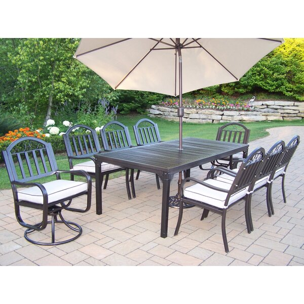Lisabeth Dining Set with Cushions and Umbrella by Red Barrel Studio