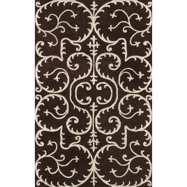 Amber Brown & Beige Area Rug by Noble House