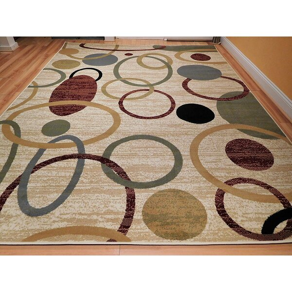 Lazarescu Wool Ivory Indoor/Outdoor Area Rug by Ebern Designs