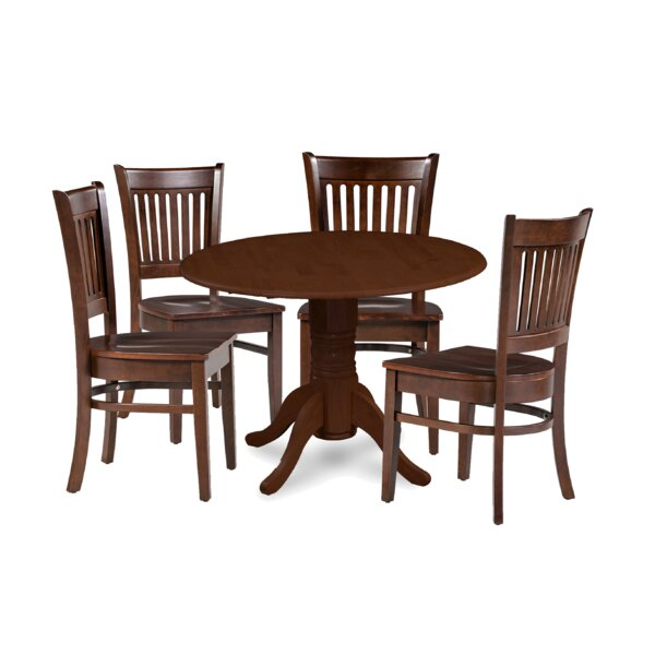 Miriam Solid Wood 5 Piece Drop Leaf Dining Set by Breakwater Bay