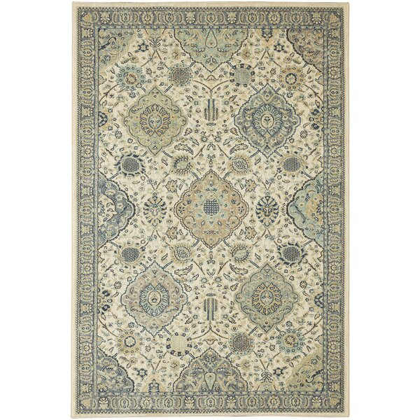Lakemont Beige/Blue Area Rug by Darby Home Co