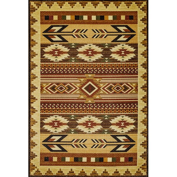 Wallin Gold/Brown Area Rug by Millwood Pines