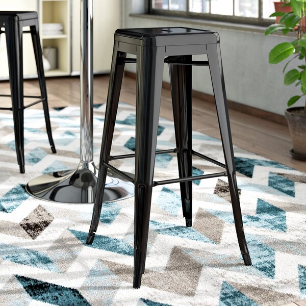 Felan Stackable All-Weather Rust-Resistant Metal 30 Patio Bar Stool (Set of 4) by Ivy Bronx| @ $158.99