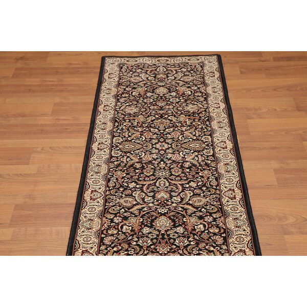 Carlene Traditional Wool Black/Beige/Burgundy Area Rug by Darby Home Co