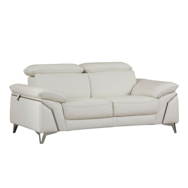 Dashing Collection Alton Leather Loveseat by Orren Ellis by Orren Ellis