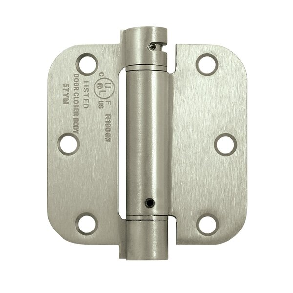 1 H x 3.5 W Spring Single Door Hinge by Deltana