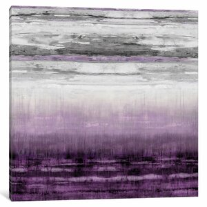 'After Glow Aubergine' Painting Print on Wrapped Canvas by East Urban Home