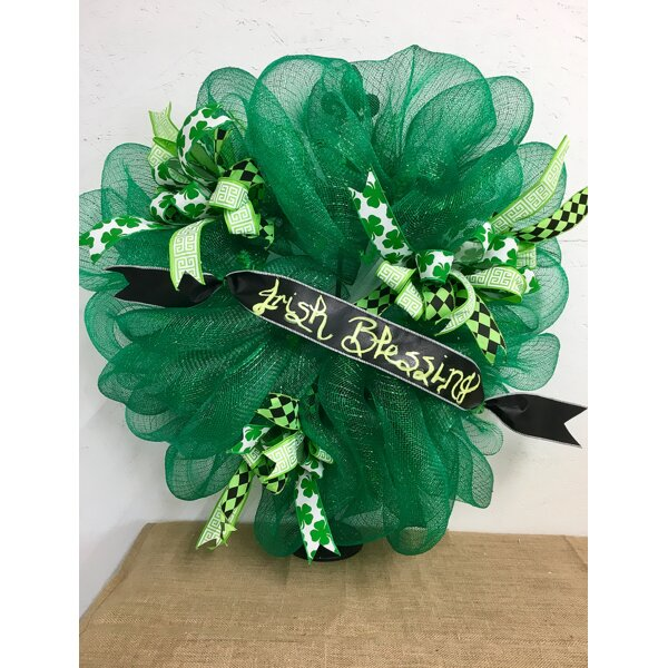 Irish Blessings 27 Wreath by The Holiday Aisle
