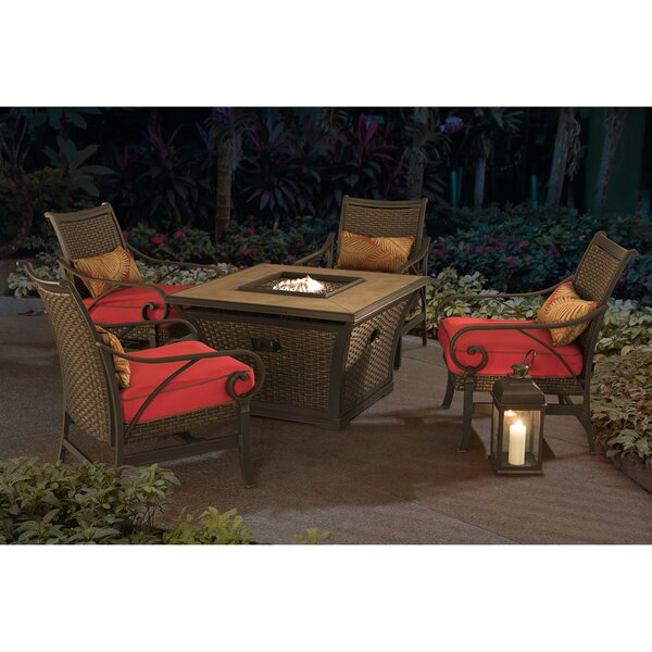 Jane 5 Piece Conversation Set with Cushions by Darby Home Co