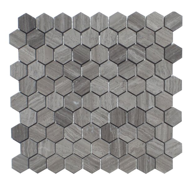 1.25 x 2 Natural Stone Mosaic Tile in Wood Ash by Mulia Tile
