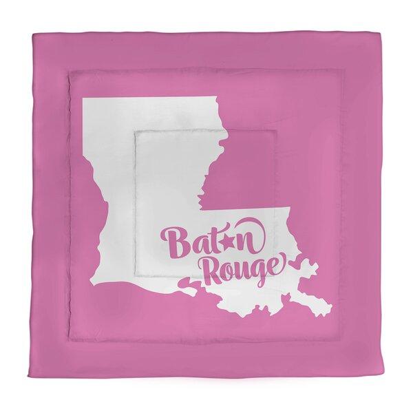 Baton Rouge Louisiana Single Reversible Comforter