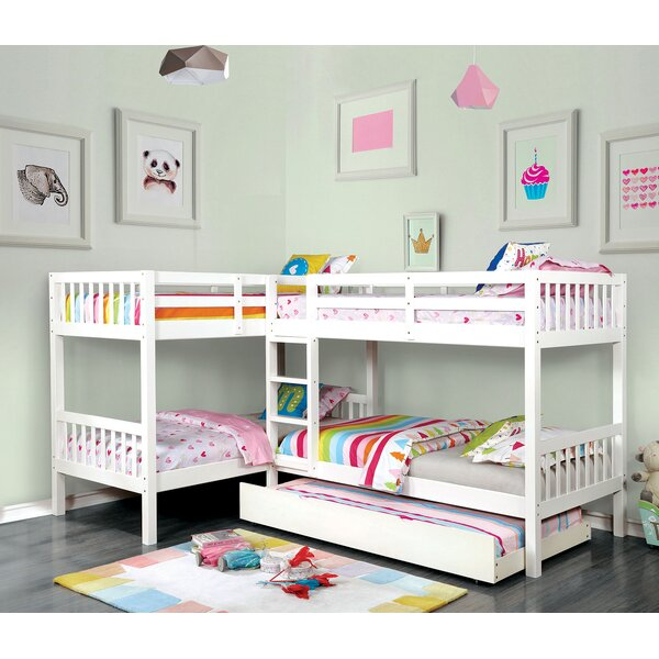Lyme Quadruple Twin over Twin Bunk Bed by Harriet Bee