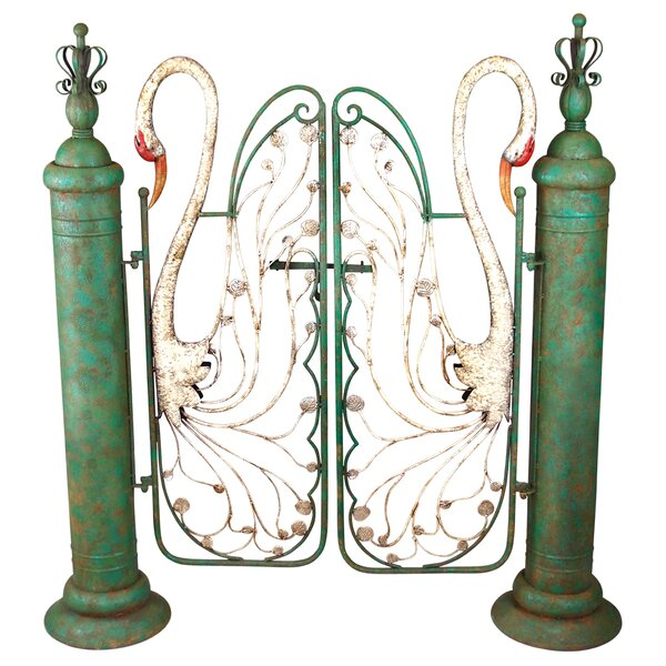 Swan Serenade Entryway Metal Garden Gate by Design Toscano