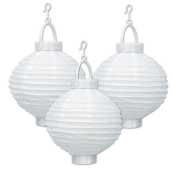 Light-Up Paper Lantern Lamp (Set of 3) by The Beistle Company