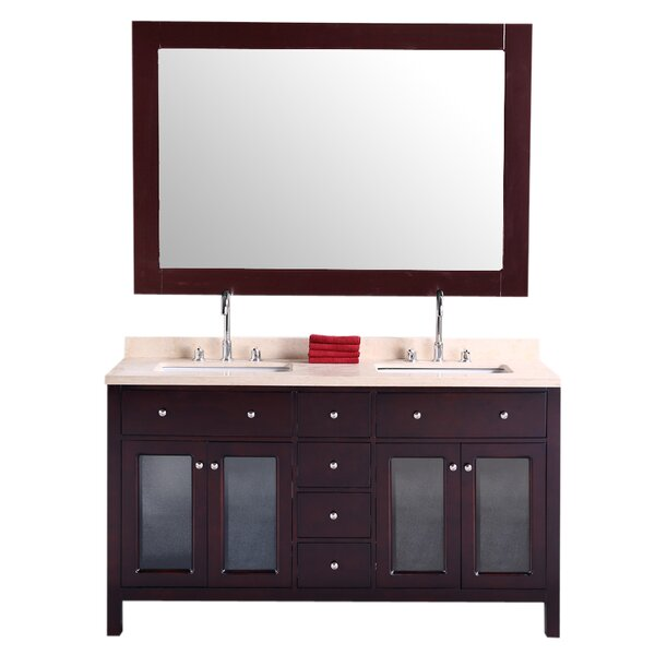 McQueen  61 Double Bathroom Vanity Set by dCOR design