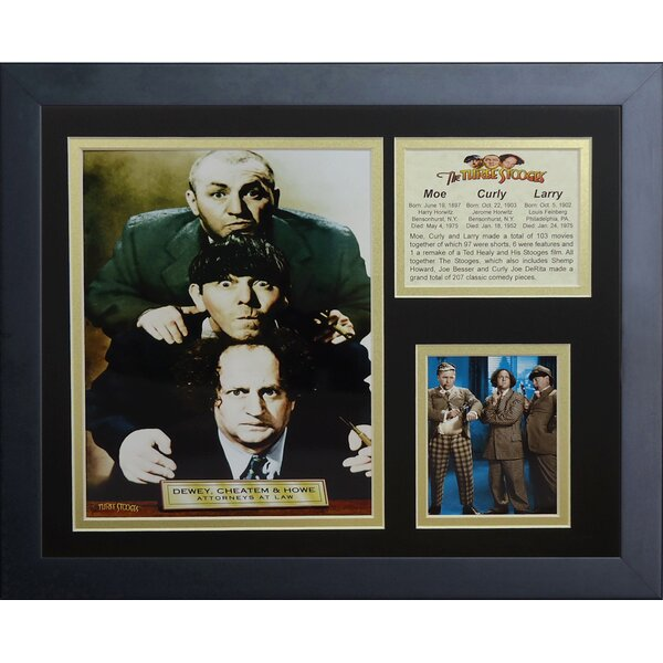 The Three Stooges Attorneys Framed Photographic Print by Legends Never Die