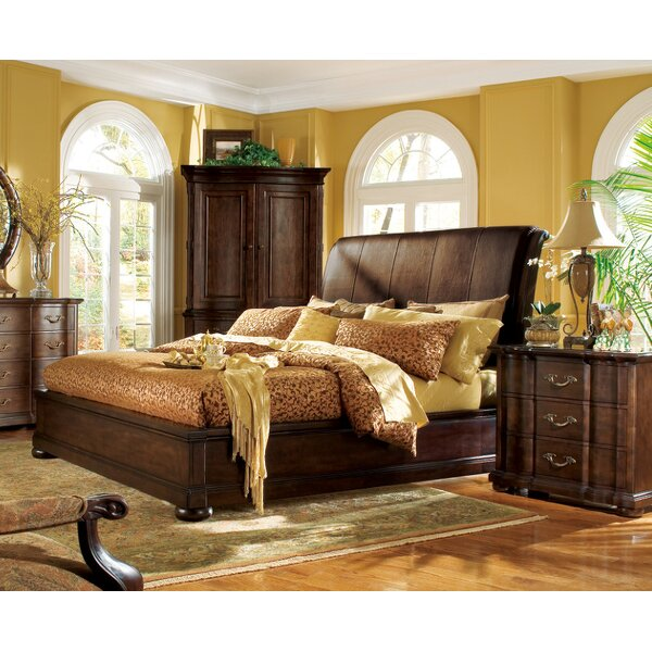 Belmont Upholstered Sleigh Bed by Bernhardt