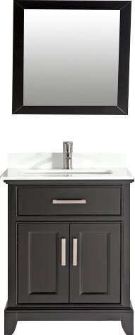 Junie Stone 30 Single Bathroom Vanity with Mirror by Gracie Oaks