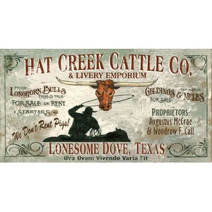 Lonesome Dove Vintage Advertisement Plaque by Red Horse Arts