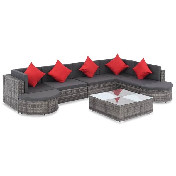 Whitby Outdoor 8 Piece Sectional Seating Group with Cushions by Ivy Bronx