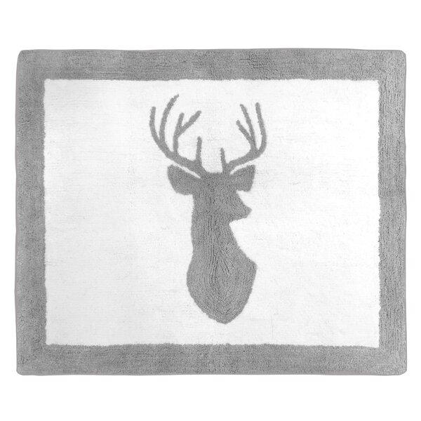 Floor Cotton White/Gray Area Rug by Sweet Jojo Designs
