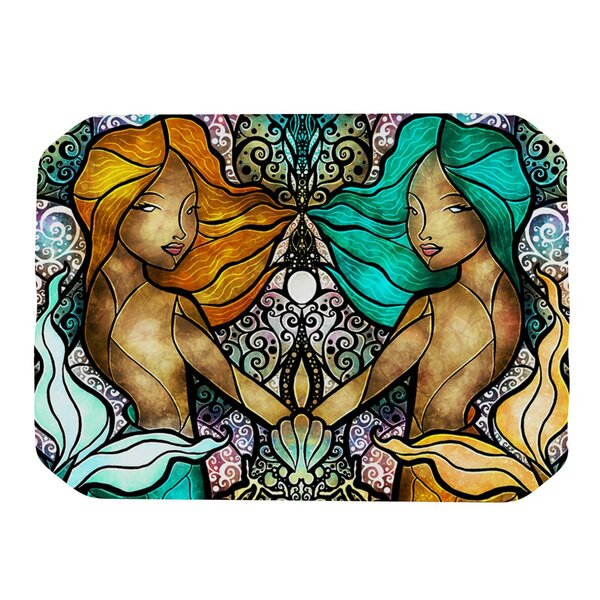 Mermaid Twins Placemat by KESS InHouse
