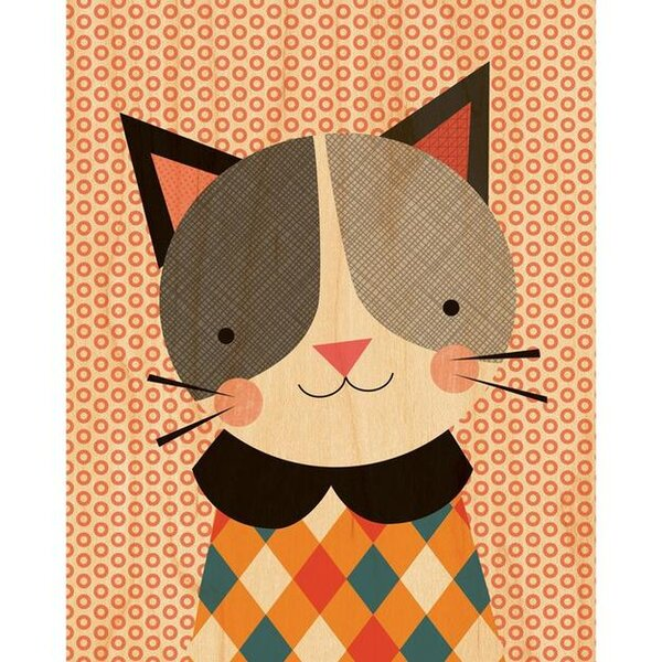 Hip Cat Decorative Plaque by Petit Collage