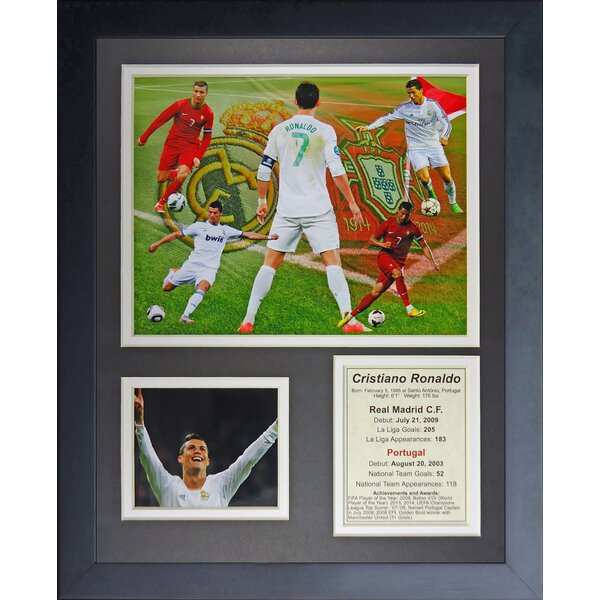 Cristiano Ronaldo Framed Memorabilia by Legends Never Die