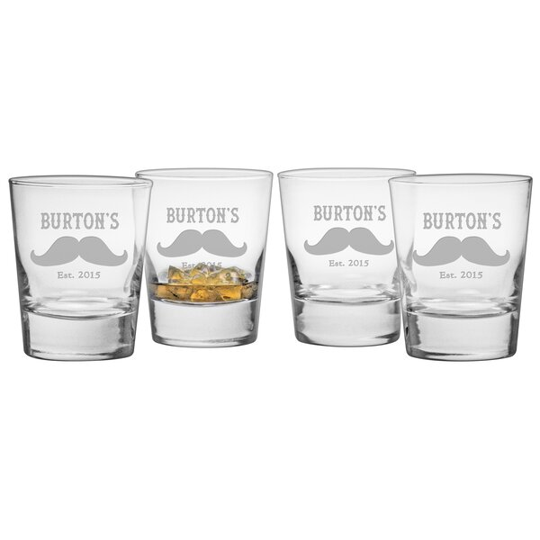 Moustache Double Old Fashioned Glass (Set of 4) by Susquehanna Glass