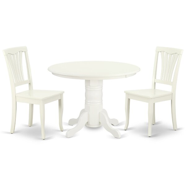 Konopka 3 Piece Solid Wood Dining Set by August Grove