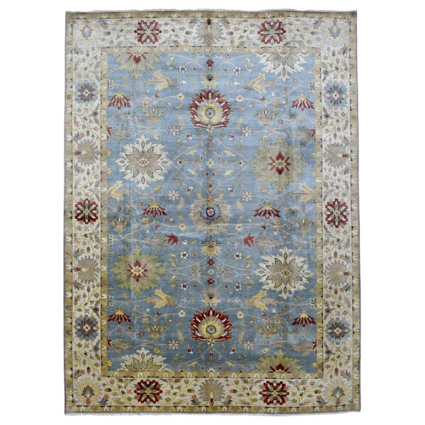 One-of-a-Kind Tanesha Traditional Oriental Hand Woven Wool Blue Area Rug by Darby Home Co