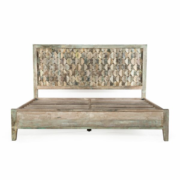 Cori King Solid Wood Low Profile Platform Bed by World Menagerie World Menagerie