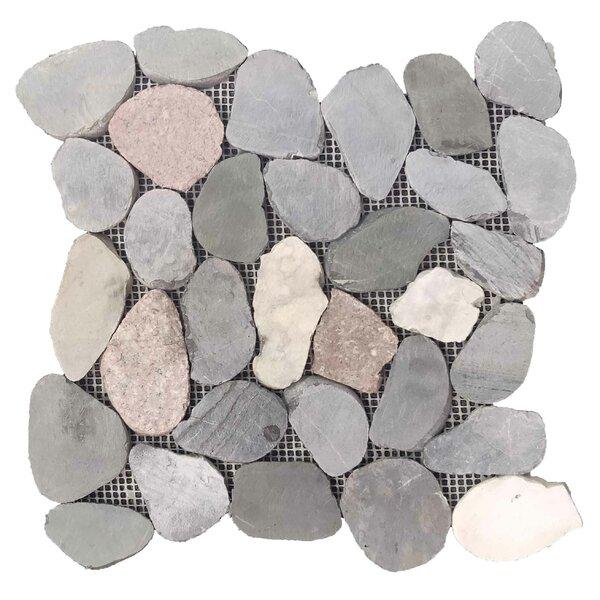 River Rock 12 x 12 Natural Stone Pebble Tile