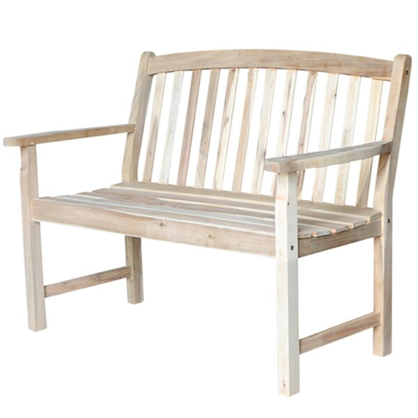 Jarnigan Slatback Wood Garden Bench by Charlton Home
