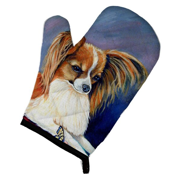 Papillon Rose and Butterfly Oven Mitt by Caroline's Treasures