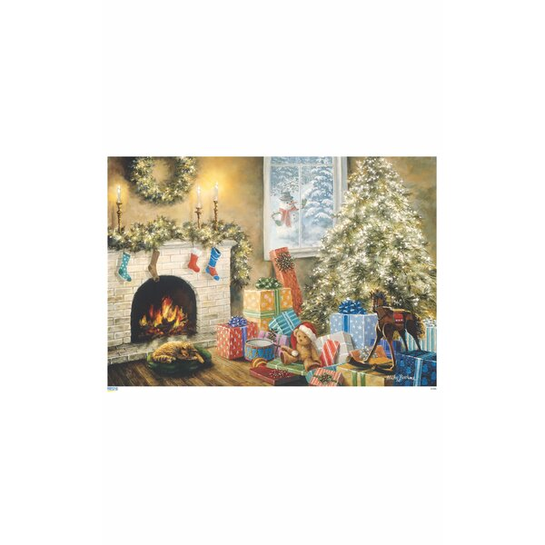 Korsch Fireplace with Christmas Tree Advent Calendar by Alexander Taron